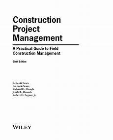 Cover Title Title Page Construction Project Management 6th Edition