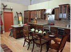 Farmhouse Kitchen in Green and Brown   HGTV