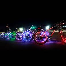 Bicycle Light Powered By Wheel Bicycle Bike Wheel Tire Wire Rope Lights 20 Led Lamp