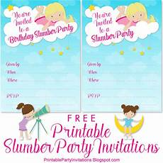 Sleepover Invitation Printable Slumber Party Invitations Free Printable Party Invitations