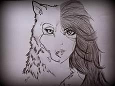 desenho de lobos toque do anjo sonho lobo e sacerdotisa