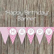 Birthday Girl Banner Girl Happy Birthday Banner Pink Grey By