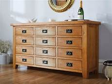country oak large 12 drawer merchant chest sideboard
