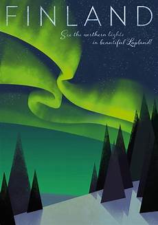 Northern Lights Designs Home Of The Northern Lights Poster 50 X 70 Cm On Demand