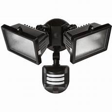 Outdoor Led Motion Sensor Light Home Depot Globe Electric 240 Degree 300 Watt Outdoor Halogen Black