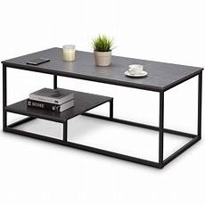 gymax 2 tier coffee cocktail accent end table sofa side