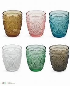 bicchieri colorati set 6 bicchieri vetro colorati villa d este