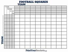 Football Square Template Football Squares With Quarter Lines Printable Version