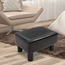 footstool ottoman footrest pu leather linen fabric w
