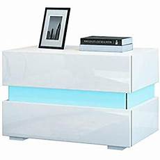 dripex bedside table high gloss front 2 drawers