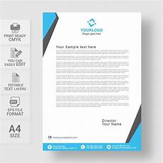 Cover Letter Letter Head Letterhead Design Template Free Download Print Ready