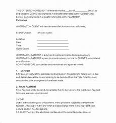 Catering Agreement Template 7 Catering Contract Templates Docs Pages Free