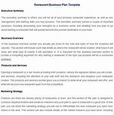 Restaurant Business Plan Examples Restaurant Business Plan Template 17 Free Pdf Word