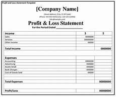 Profit Loss Statement Example Profit And Loss Statement P Amp L Fincash Com
