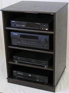 oak wooden tv stand stereo component cabinet by