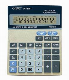 Buy Calculator Orpat Ot 1500t Check Amp Correct Calculator Buy Online At