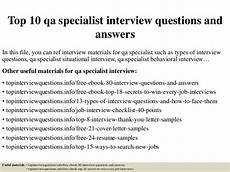 Qa Analyst Interview Questions Top 10 Qa Specialist Interview Questions And Answers