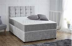 silver divan bed set with storage upto 50 free