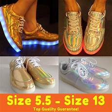 Holographic Light Up Shoes Top New Hologram Led Shoes Light Up For Adults Women Men