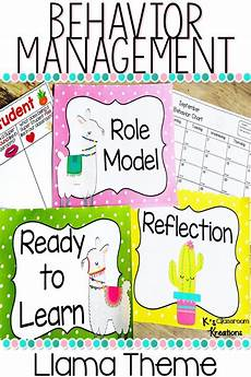 Behavior Clip Chart Template Behavior Clip Chart Llama Theme Behavior Clip Charts