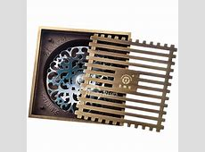 Luxury Gold Antique Bronze Odor Removal Square Shower Drain