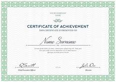 Certificate Of Template Free Certificates Templates Psd