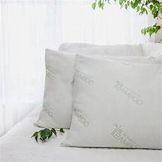 essence of bamboo jumbo bed pillow 2 pack ds10bam 1j2pk