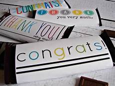 Free Candy Bar Template Free Candy Bar Wrapper Thank You And Congrats Printables