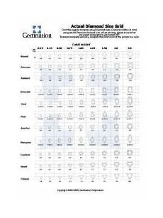 Real Size Diamond Chart Gemnation S Actual Diamond Size Comparison Chart