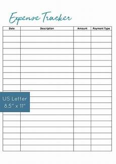 Expenditure Tracker Printable Expense Tracker Bill Tracker Budget Template