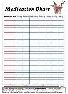 Drug Administration Chart Medication Chart Printables Pinterest