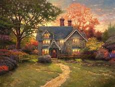 kinkade cottage painting gingerbread cottage limited edition the