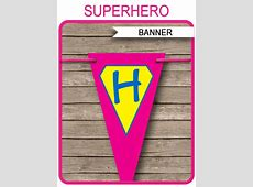 Superhero Girl Banner Template   Birthday Banner