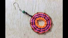 macrame aretes como hacer aretes macrame circulares cavandoli