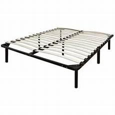 size metal platform bed frame with wood slats