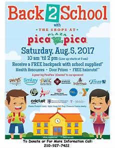 School Event Flyer Back To School Event Picapica Plaza