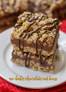 no bake chocolate oat bars lil