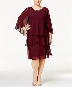 Sl Fashions Dress Size Chart Sl Fashions Plus Size Tiered Dress And Embellished Cape