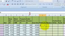 Salary Excel Sheet Format How To Make Microsoft Excel Salary Sheet Tutorials Final