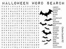 Halloween Themed Words Printable Halloween Word Search