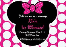 Minnie Mouse Birthday Invitations Free Free Editable Minnie Mouse Birthday Invitations Minnie