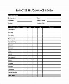 Employee Review Form Free 20 Sample Employee Review Forms In Pdf Ms Word
