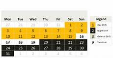 Work Shift Calendar Template Shift Calendar Template Free Download 187 Chandoo Org