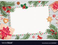 Christmas Letter Backgrounds Template Of Christmas Letters And Wishes Vector Image