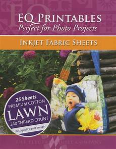 premium cotton lawn inkjet fabric 25 sheets per pack