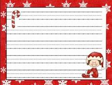 Christmas Themed Writing Paper Holiday Themed Christmas Writing Paper To Help You Create