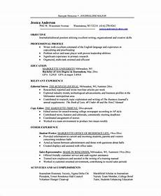 Resumes Copy Sample Copy Editor Resume 7 Free Documents Download In