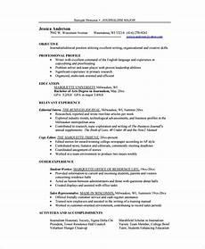 Sample Resume Copy Sample Copy Editor Resume 7 Free Documents Download In