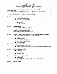 Work Agendas Working Group Meeting Agenda Templates At