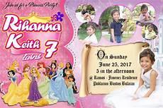 Sample 7th Birthday Invitation 7th Birthday Disney Princess Sample Invitation Get Layout